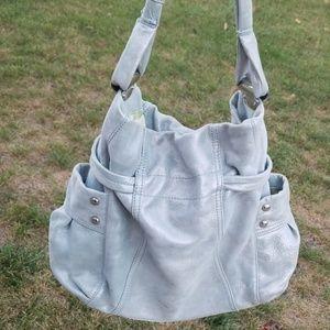 B. Makowsky Pale Grey Shimmer handbag